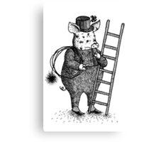 Pig - Boy Canvas Print
