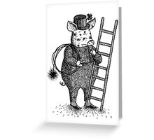 Pig - Boy Greeting Card