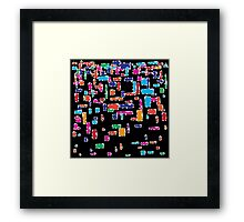Colorful geometric vector abstraction Framed Print