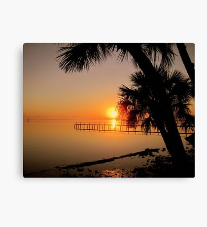 Sunrise in Florida Canvas Print