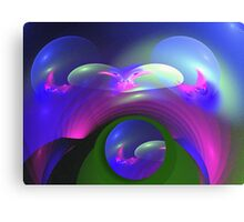The bubbling bow Canvas Print