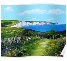 Sea breeze over Seven Sisters Poster