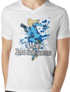 I Main Zero Suit Samus - Super Smash Bros. Mens V-Neck T-Shirt