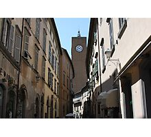 Clock Tower in small town Photographic Print