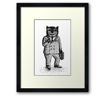 Cat - Boy Framed Print
