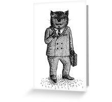 Cat - Boy Greeting Card