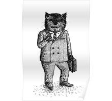 Cat - Boy Poster