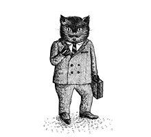 Cat - Boy Photographic Print