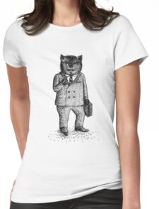 Cat - Boy Womens Fitted T-Shirt