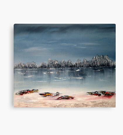 A serene day in winter Canvas Print