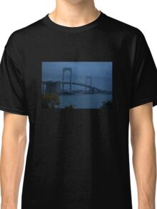 Before the Dawn on a Rainy Day at the Throgs Neck Bridge Classic T-Shirt