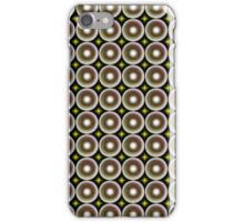 Modern abstract circle pattern iPhone Case/Skin