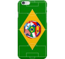 football field and ball with flags iPhone Case/Skin