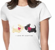 I Love My Scotties Womens Fitted T-Shirt