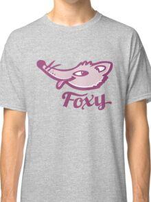 Foxy purple pink graphic art Classic T-Shirt