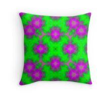flame pattern green purple Throw Pillow