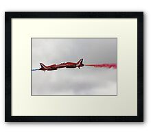 BAE Red Arrows Hawk Aircraft - Synchro Pair Framed Print