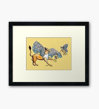 Griffins Family Framed Print