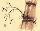 """""""Serenity"""" Bamboo Watercolor Painting by Rebecca Rees"""