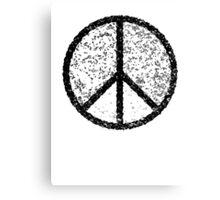 Peace symbol (black) Canvas Print