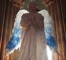 A Christmas angel in Hereford cathedral. by Patricia Rogers