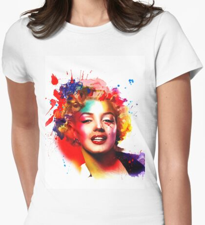 """""""Marilyn"""" Womens Fitted T-Shirt"""