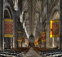 Winchester Cathedral Aisle by GordonScott