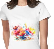 """Watercolor Garden"" Womens Fitted T-Shirt"