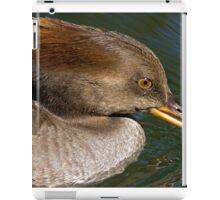 Female Hooded Merganser iPad Case/Skin