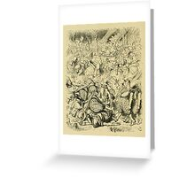 Through the Looking Glass Lewis Carroll art John Tenniel 1872 0158 Then Came the Horses Greeting Card