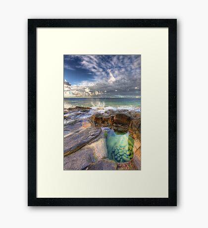 Emerald Pools Noosa Framed Print