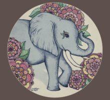 Little Elephant in soft vintage pastels Kids Clothes