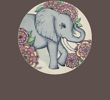 Little Elephant in soft vintage pastels Womens Fitted T-Shirt