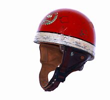 OLD RACING CRASH HELMET by Rexcharles