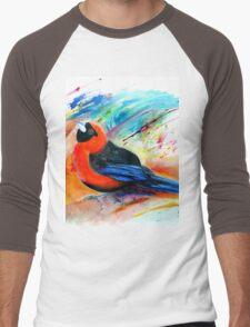 Masked Crimson Tanager Men's Baseball ¾ T-Shirt