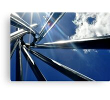 Spiral Sculpture on Blue Sky Canvas Print