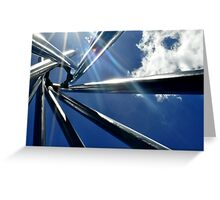 Spiral Sculpture on Blue Sky Greeting Card