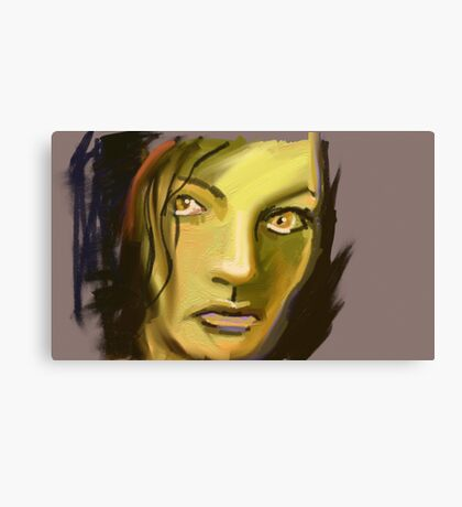 Not interested Canvas Print