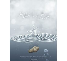 Pebble In The Pond - Poster Photographic Print