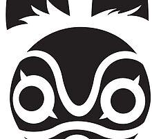 San's Mask (Princess Mononoke) by Khanicus Designs