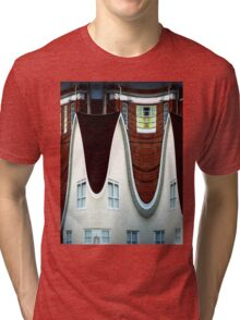 Above March Hare's House Tri-blend T-Shirt