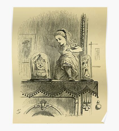 Through the Looking Glass Lewis Carroll art John Tenniel 1872 0032 The Other Side Poster
