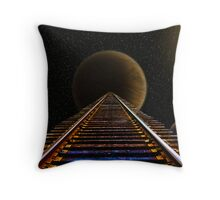 Waiting for the Crazy Train Throw Pillow