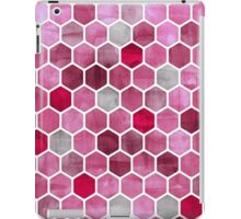 Pink Ink - watercolor hexagon pattern iPad Case/Skin