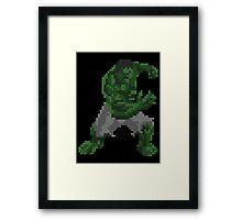 8-Bit Hulk Framed Print