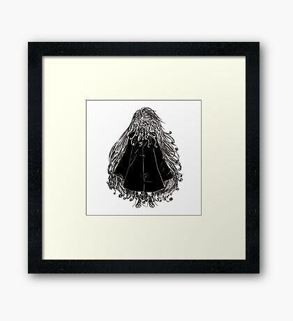 Faceless Girl in coat Framed Print