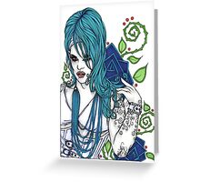 In Blue Greeting Card
