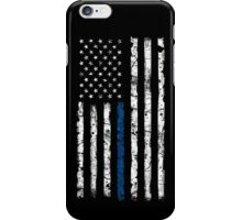 Blue Line (White) V2 Vertical iPhone Case/Skin