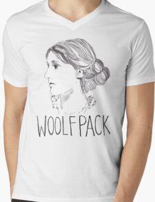 Virginia Woolfpack Mens V-Neck T-Shirt