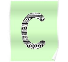 'C' Patterned Monogram Poster